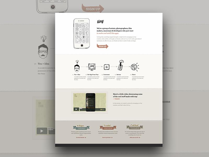 Tiny Website Concept