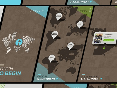 Fellowship Interactive Touch Screen Map UI