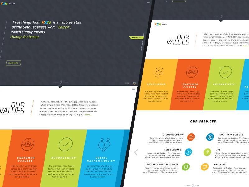 KZN Website Mockup corporate modern clean design web