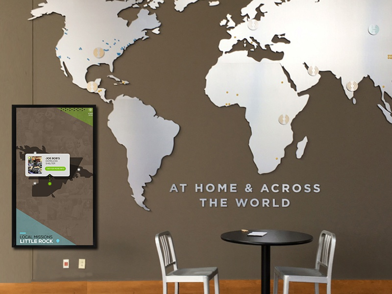 Fellowship Interactive Touchscreen Map