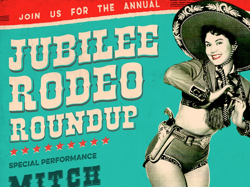 Rodeo Roundup Poster illustration graphic design print ad event party popart design poster