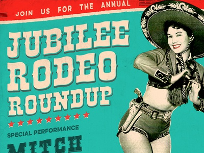 Rodeo Roundup Poster