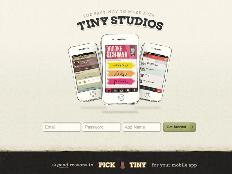 Tiny Website splash signup playful simple mobile illustration textured design web