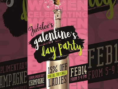 Galentines Day Poster Design