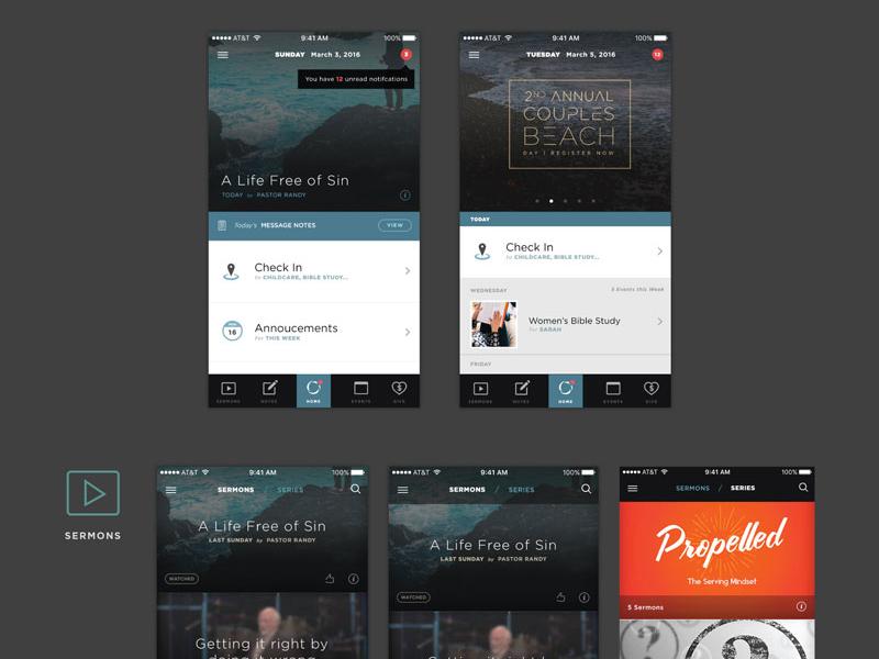 Church App ipad ios mobile church ux ui design app