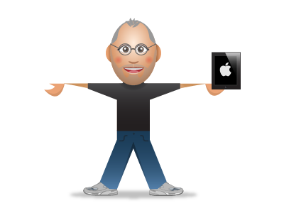SupaStar Steve Jobs steve jobs apple supastar avatar ipad