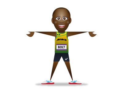SupaStar Yusein Bolt supastar avatar yusein bolt track jamaica olympics
