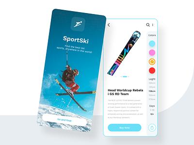 Ski App Concept concept minimal mobile design app design uiux ui wintersport ski winter