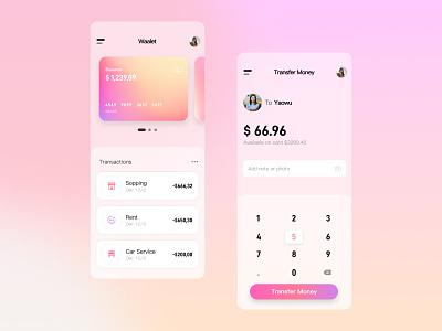 Finance Wallet UI exercises bank wallet finance design app interface ui design ui