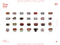 Japanese cuisine-Sushi Icon Exercise