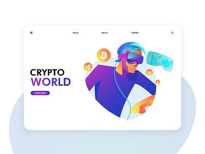 Futuristic cryptocurrency illustration exercise Page 01 future scene blockchain cryptocurrency 插图 设计 应用界面