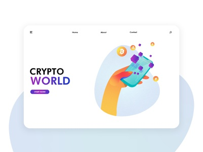 Futuristic cryptocurrency illustration exercise Page 02 future technology cryptographic currency blockchain 页面 插图 应用界面