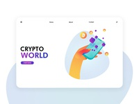 Futuristic cryptocurrency illustration exercise Page 02