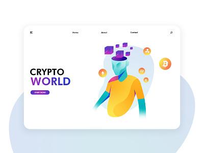 Futuristic cryptocurrency illustration exercise Page 03 未来科技 加密货币 区块链 插图 应用界面