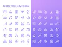 School Theme Icon Exercise