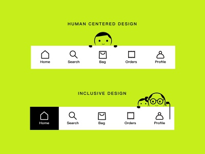 Label bar design exercises 你的设计 页面 应用界面 app inclusive design inclusive concept app tab bar 图标