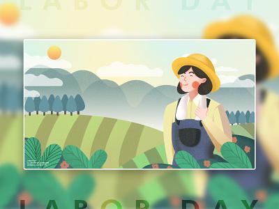 I work, I am happy! holiday spring field farming labor day 页面 应用界面 插图