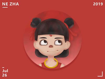 NE ZHA character anime red 3d 页面 应用界面 illustration nezha
