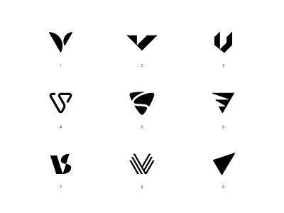 V / VS – Logo Concepts fashion brand fashion modernism modern label design label fitness wear sportswear clothing branding vector icon sign mark brand apparel logo vs
