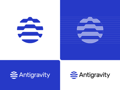 Antigravity – Logo Concept // For SALE modernism brandforma rounded corners arrow up connections gravity antigravity a construction guides circle crypto branding icon sign mark logotype logo grid