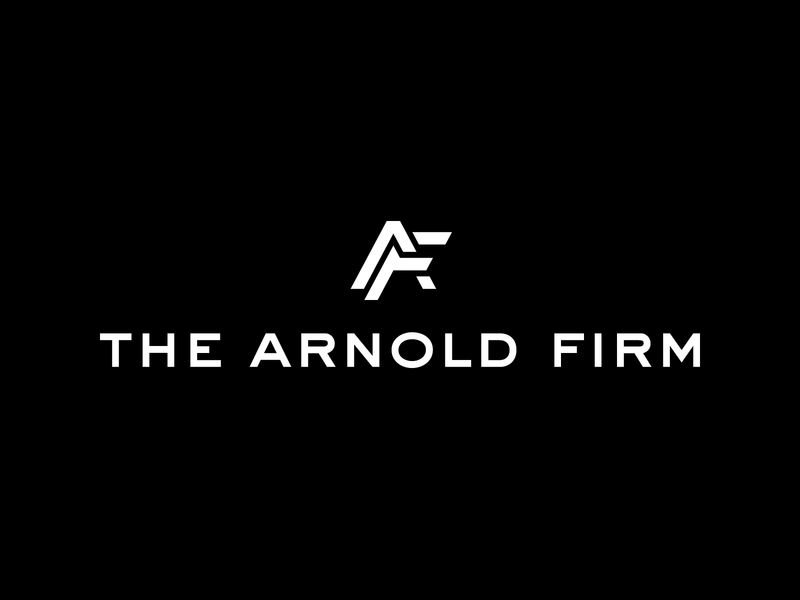 The Arnold Firm — Logo Design classy a f arnold initials fa monogram bw new york design vector branding logo logotype sign mark classic law firm