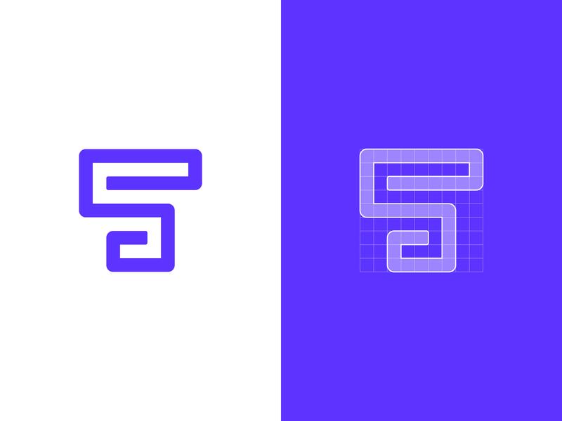 TS – Logo Concept // For SALE brand design square purple grids grid s t brand design vector icon branding logotype sign mark logo