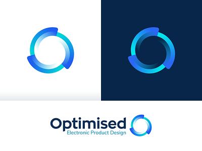 Optimised – Logo Design branding design dynamic movement crypto transparent gradient design sign circle colors branding mark logotype logo