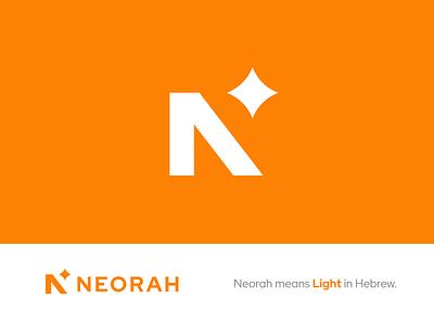 NEORAH — Logo Design brand icon light orange star n design sign mark logotype branding logo