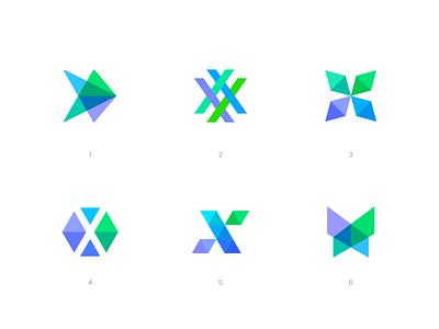 X Logos collection exploration x design color colors mark branding logotype logo