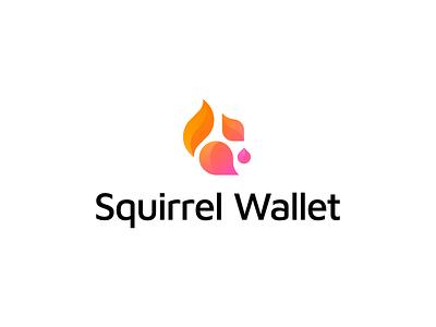 Squirrel Wallet – Logo Design nut tail simple minimal abstract cryptocurrency defi crypto cute gradient animal logotype mark design illustration branding wallet logo squirrel