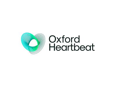 Oxford Heartbeat – Logo Design transition lines analyze scan beat heart heartbeat branding sign mark logotype logo med medical