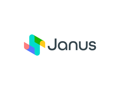 Janus / logo design icon logotype colors branding crypto job rounded geometic transparent mark sign togotype logo multiply colorful color overlay abstract s janus
