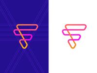 F / logo design