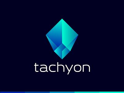 Tachyon currency money bitcoin tachyon tachyons speed gradient geometic crypto currency crypto crystal gem logotype logo
