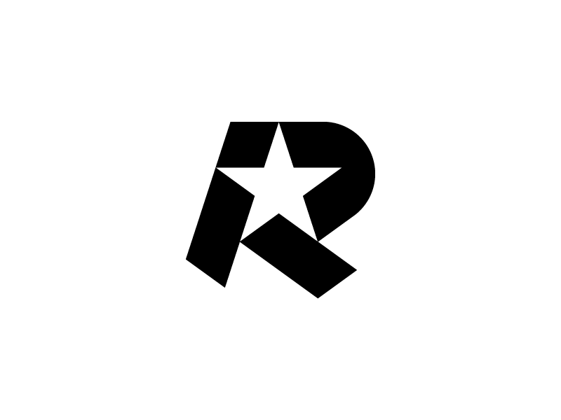 R Star — Logo Design // For SALE