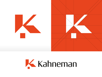 Kahneman sign icon branding construction grids grid vector design mark logotype logo real estate window roof home house k