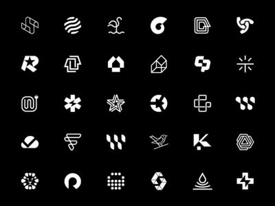 B/W Logo Collection house abstract initials grid branding logotype vector star design sign mark black monocolor monomark blackandwhite bw selection collection logos logo
