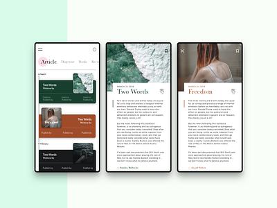 Readers App books reader iosapp android app ux app article publishing ui design
