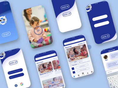 An app design for a start up daycare company