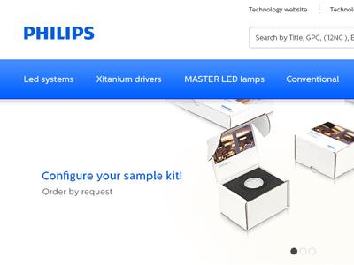 Philips OEM webshop (seoshop) philips djo blue shop webshop ui userinterface webdesign