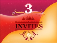 3 dribbble invites! Join the game!