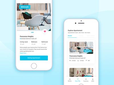 Boking Apartement mobile app design mobile app app design ui