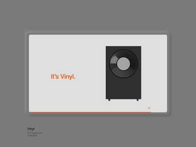 Si™ Inspirations – Vinyl motion design interface ui design web design web ux ui motion typogaphy modern minimal dailyui concept after effects 3d