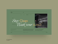 Si™ Inspirations – Stay Clean education website coronavirus minimal grid layout typogaphy ux ui  ux website web design web grid interaction interface