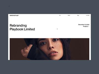 Si™ Simon Mutalib – Blog Details Page webdesign uiux gsap typogaphy interaction design uidesign minimal