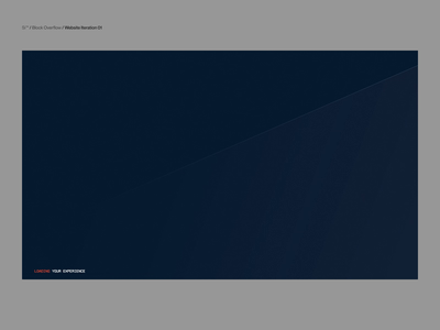 Si™ Design & DEV | BlockOverflow Iteration 001 glsl three.js webgl webflow web website video interaction animation typography ux ui webdesign uiux interface uidesign minimal