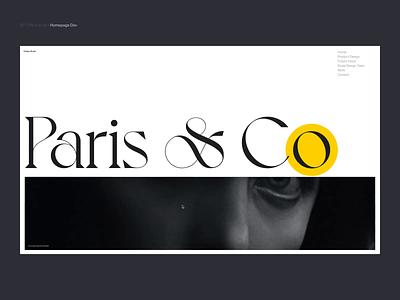Si™ Design & DEV | Paris & Co Home Page behance typogaphy ux ui designinspiration web webflow website design websites uidesign minimal