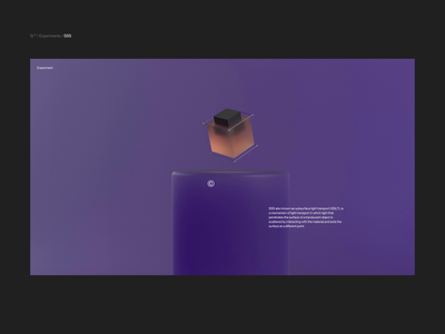 Si™ Design | SSS Concept for the Web subsurface scattering 3d art typogaphy aftereffects animation interface design webdesign ux ui minimal