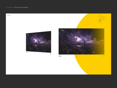 Si™ Design | P&C Work Listing / Details Page video typogaphy webgl animation web design websites minimalism webdesign ux ui minimal