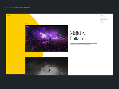 Si™ Design | P&C Project Listing Page interaction animation designinspiration uiux uxdesign typography minimalism webdesign ux ui minimal